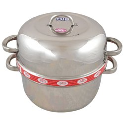Silver Stainless Steel Rice Cooker, For House And Hotel, Capacity: 1500ml