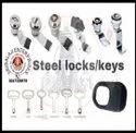 Triangular Type Control Panel Steel Locks, Chrome, Packaging Size: 50nos