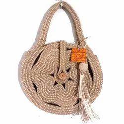 Brown Jute Dori Bag