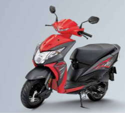 Sports Red Honda Dio Scooter