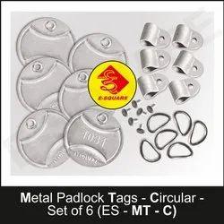 Circular Metal Padlock Tags