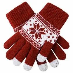 Printed Cotton Knitted Gloves