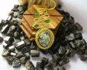 Gold Plated Black Onyx Checker Cut Gemstone Women Statement Necklace