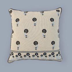 New Embroidered Cotton Cushion Cover