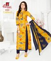 Multicolor Casual Wear Ganpati Cotton Dress Material, Gsm: 150-200