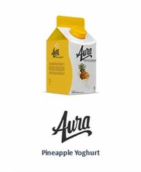 Pineapple Fruit Flavoured Yoghurt Drinks With Fruit Dices