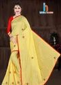 Yellow Fancy Bhuval Cotton Sarees