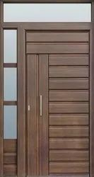 Exterior Finished SOLID WOOD DOORS, for Home, Thickness: 30 Mm-50mm