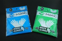 USE AND THROW PLASTIC GLOVES