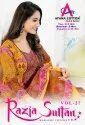 Razia Sultan Vol-27 Karachi Cotton Print Catalog Collection