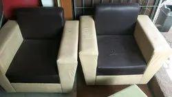 Leather Sofa Brown Cream