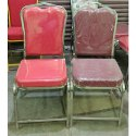 Red And Maroon Kaartikeya Stainless Steel Banquet Chair