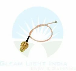 RF Cable Assemblies RP SMA Female to UFL in RG178