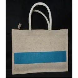 Loop Handle Jute Plain Shopping Bag, Capacity: Up To 5 Kg