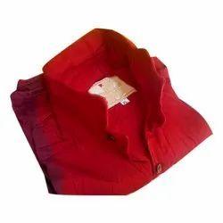Collar Neck Mens Red Plain Cotton Shirt, Size: XL