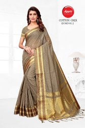 Designer Cotton Check with Silk Sarees