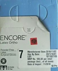 Brown Ansell Encore Latex Ortho Surgical Glove