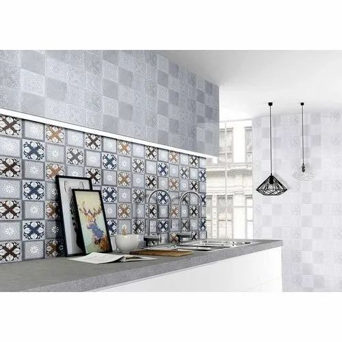 Ceramic Kajaria Designer Kitchen Wall Tile Thickness 5 10 Mm Rs 40 Square Feet Id 21118726348