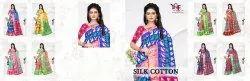 Silk Cotton 1 Sonakshi 5/2 Patta Zari Printed Saree