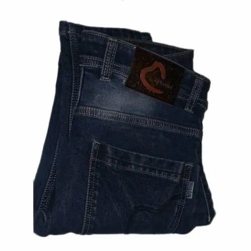 Denim Mens Blue Faded Jeans, Waist Size: 28