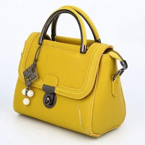 Party Wear Leather Ladies Fancy Hand Bag 0a12a2ac10487