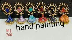 Hand Printed Earring