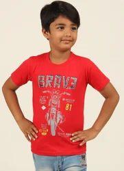 Lipin cotton Kids Round Neck T Shirt, Size: 2 yrs to 12 yrs