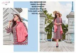 Rachna Twill Silk Pattern Cut Kurti With Stole Catalog Kurti For Women 5