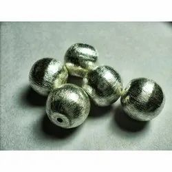 Sterling Silver Matte Round Beads