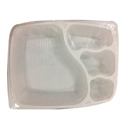 4 Compartment Disposable Meal Tray