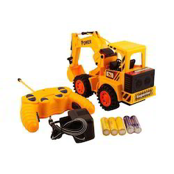 Multicolor Dwiza Remote Control Yellow Construction Truck, for School/Play School