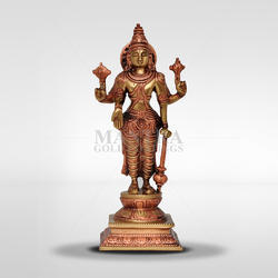 Brass Handecor Standing Vishnu with Arch