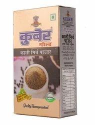Kuber Black Pepper Powder, Packaging: Box