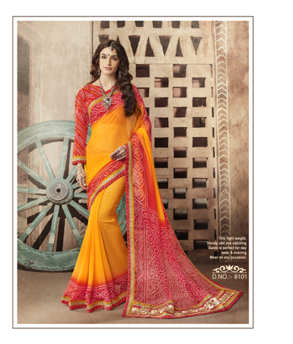 111ed5116e Georgette Printed Designer Bandhej Saree, Rs 999 /piece, Kessi ...