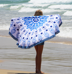 Large Round Beach Towel