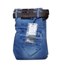 Blue Party Wear Mens Stretchable Jeans, Waist Size: 28 To 44