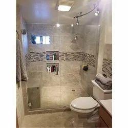 Hinged Frameless Shower Glass Door, For Bathroom