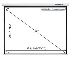 Screen Technics Pro Series Motorized Projector Screen 100 Inch Diagonal