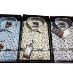 For You Printed Men Party Wear Cotton Shirt