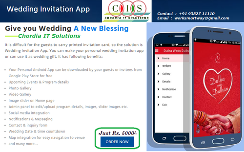 Wedding Invitation App In Chennai Choolai By Chordia It Solutions