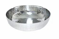 Vatika Polished Stainless Steel Hammerd Tasla, For Home
