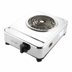 Stainless Steel Silver AE-203 Airex Portable Electric Stove Hot Plate, For Cooking, Size: 14 Inch X 3 Inch X 11 Inch