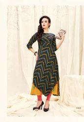 3/4th Sleeve A Line Dress