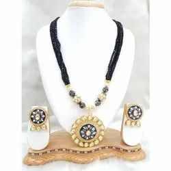 Stone Necklace Set, Packaging Type: Box