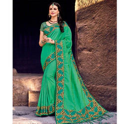 Green Ladies Saree