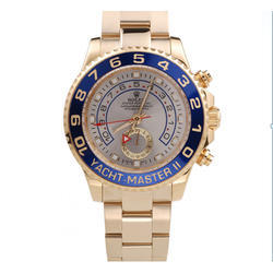Gold Stainless Steel Yacht Master Watch