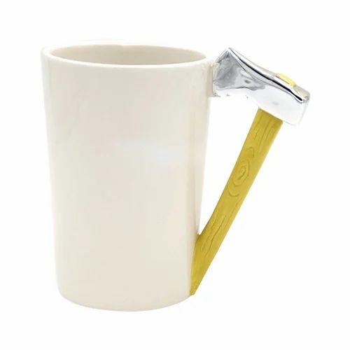 Axe Tool Shape Design Ceramic Tea Coffee Cupugs