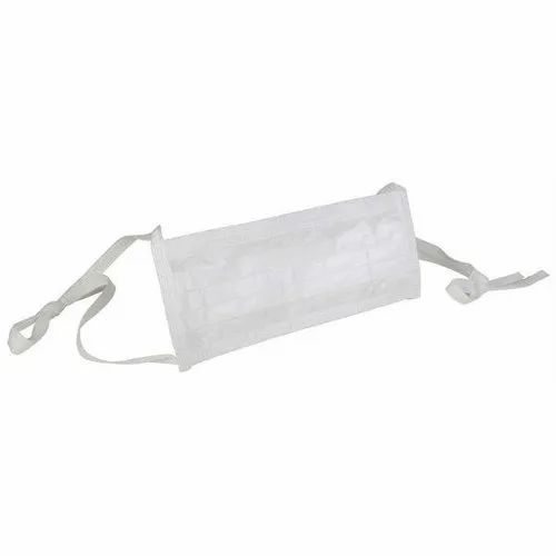white surgical face mask