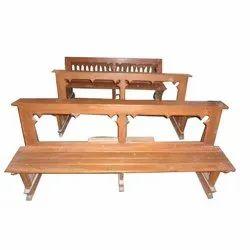 Wooden Church Bench