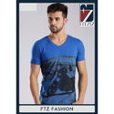 Mens Cotton V Neck T-Shirt